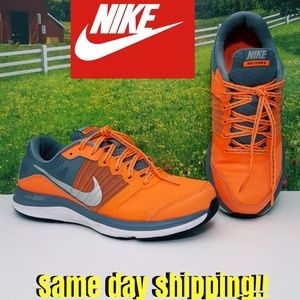 Boy's Nike Dual Fusion X Sneakers Orange & Gray